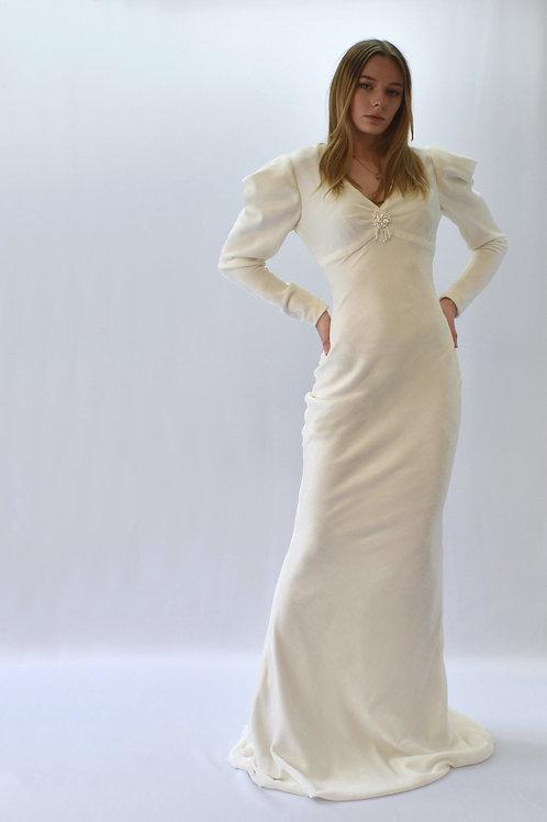 40s Glamour Velvet Bridal Gown