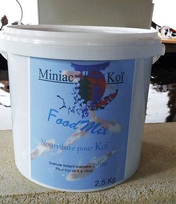 Granulé Food Mix de 3mm pour Koï de 8 à 15cm  seau 2.5kg