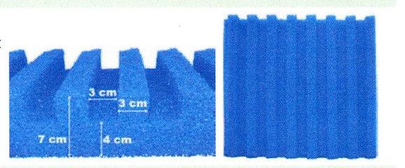Mousse de filtre Profile T 50x50cm