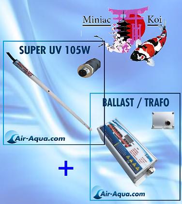 UvC Super UV Amalgame 105W, Lampe +Ballast