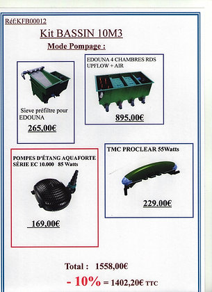 Kit de filtration pour bassin de 10m3