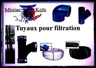 Toute la tuyauterie pour votre filtration de Bassin proposé par Miniac-Koïs