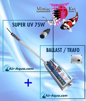 UvC Super UV Amalgame 75W, Lampe +Ballast