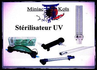 Grand choix de Stérilisateur et U.V pour votre bassin proposé par Miniac-Koïs