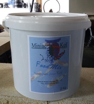 Granulé flottant  Food Mix diam: 6mm   seau 2kg
