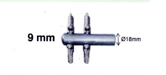 Diviseur Chromé + Vanne 9 mm 6 voies