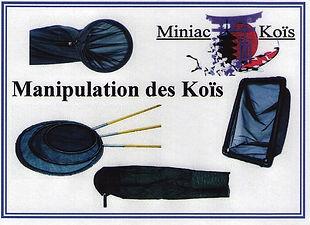 Tous le Matériel pour manipuler vos Koïs proposé par Miniac-Koïs le Spécialiste du bassin de jardin en région Bretagne