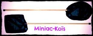 Filet à Koïs avec manche en bois proposé par Miniac-Koïs