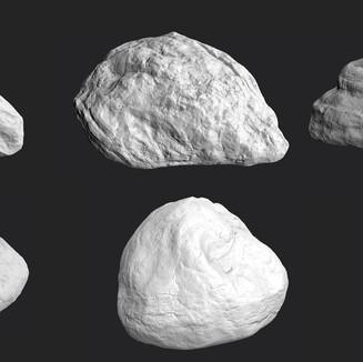 Week 8 & 9 Sculpting rocks