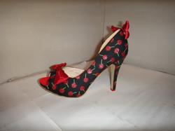 Rockabilly glitter cherry stilettos
