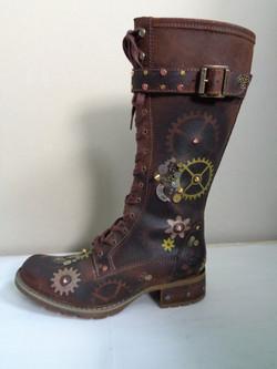 Timberland Steampunk cog boots