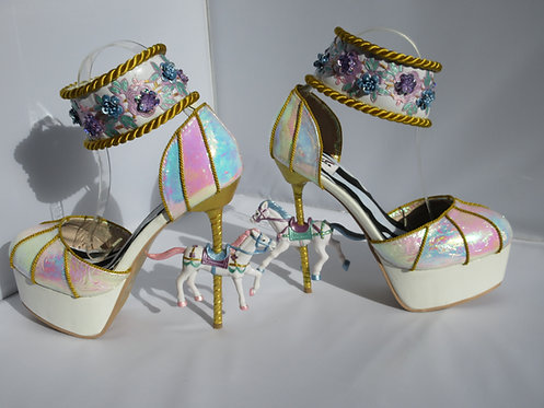 Carousel horse iridescent shoes