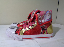 Ironman red gold sneakers
