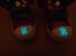 Glow in the dark Frozen trainers