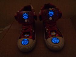 Glow in the dark Ironman sneakers