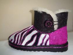 Zebra Print diamante Ugg boots