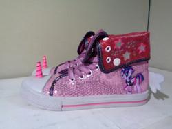 Pink sequin my little pony sneakers
