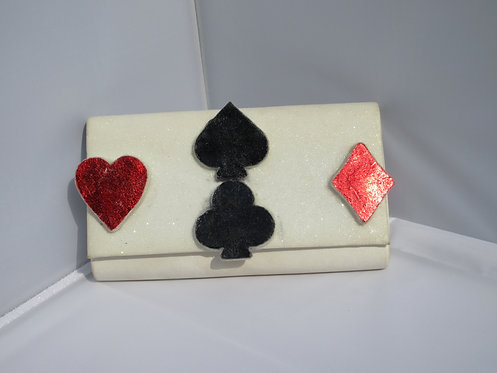 Las Vegas Casino card suit clutch bag