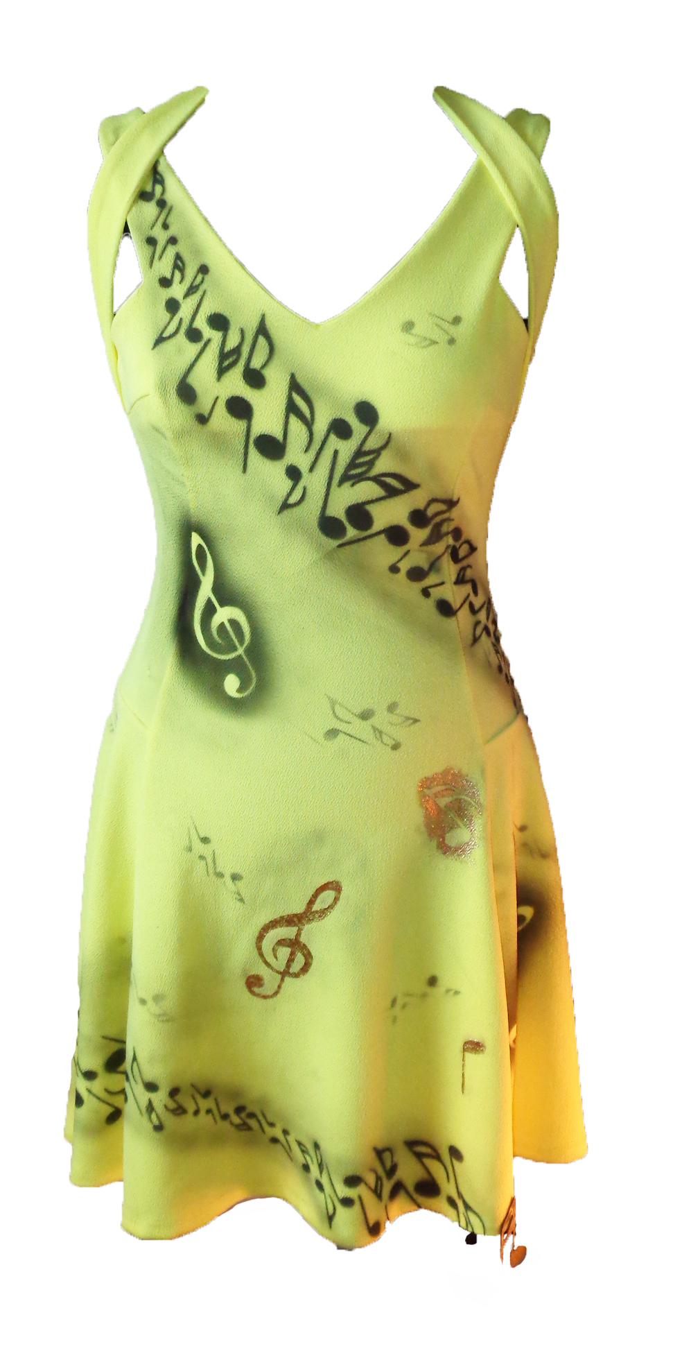 Musical notes skater dress