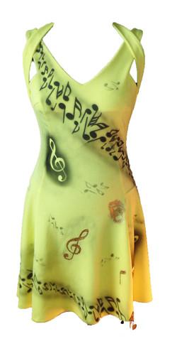 Musical notes skater dress