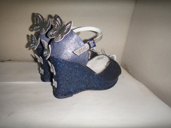 blue silver butterfly wedges