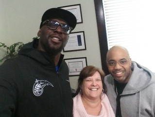 Meeting with Former NBA Player Darius Miles and Jermone W. Great things happening.