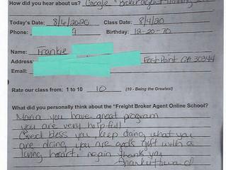Frankie - East Point, GA  - Online Class