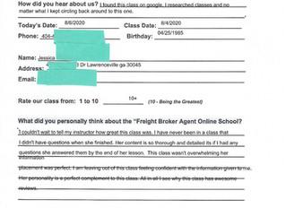 Jessica - Lawrenceville, GA - Online Class