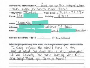 Samantha R. - Valdosta, GA -  Online Class