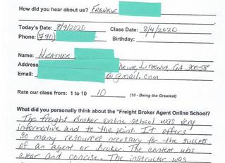 Heather - Lithonia, GA -- Online Class