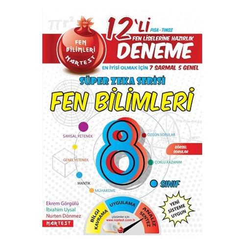 8. Sınıf Nar Fen Bilimleri 7 Sarmal + 5 Genel Deneme