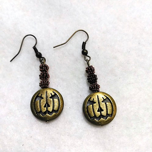 Pumpkin Earrings Halloween | Jewelry