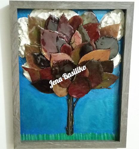 Earths Art | Tree | 11x14 glassless shadow box | 3D Framed Touchable Natural Art