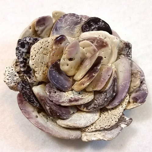 Shell Flower | Holly Flower | Seashell Table Art | Paperweight