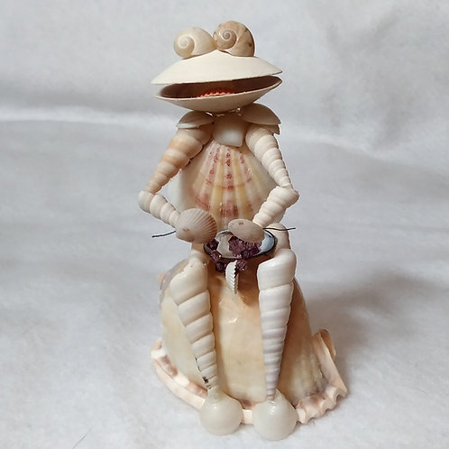 Shell Frog Figurine | Frog figurine | Shell Art - front view