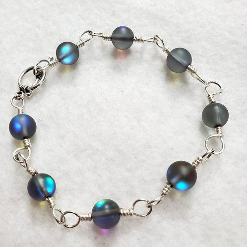 Iridescent Mystic Aura Wire Wrapped Bracelet