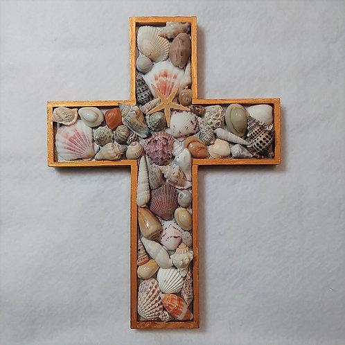 Seashell Crucifix | Seashell | Religious Decor | Wall Cross