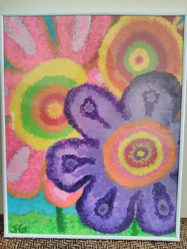 Summer Blur 1 of 3 | Framed Painting | Artist: Jena Basiliko (1)