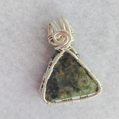 Chlorite | Wire Wrapped Pendant | Jewelry