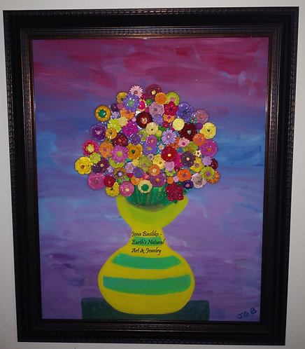 3d Flower Painting | 16 x 20 | Earths Natural Art and Jewelry - with name