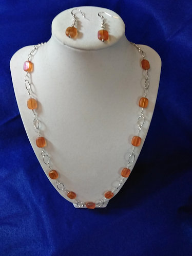 Necklace and Earrings | Orange | Jewelry