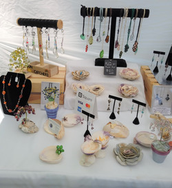 Shell Art and Jewelry at Greenfest