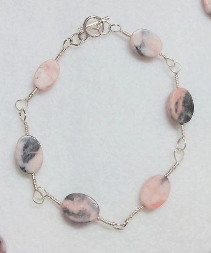 Bracelet | Pink Oval Stone | Jewelry