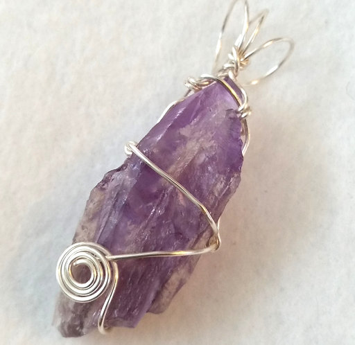 Amethyst | Calming Stone| Wire Wrapped Pendant