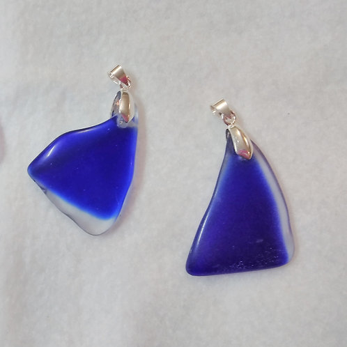 Blue Sea-glass pendant | Jewelry | Sea-Glass