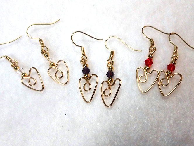 Heart Earrings | MADE TO ORDER | Wire Wrapped