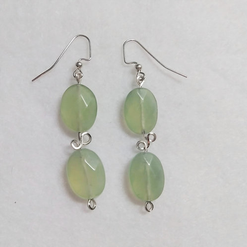 Prehnite Earrings | Wire Wrapped Jewelry | Set