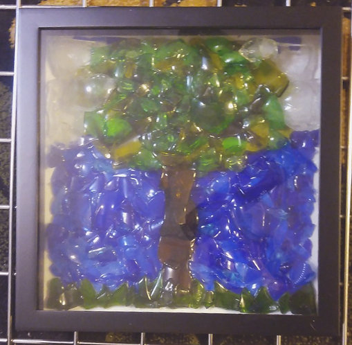Glass Art –Tree # 1 | 12 x 12 inch