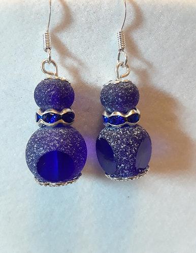 Blue Glass Earrings | Jewelry