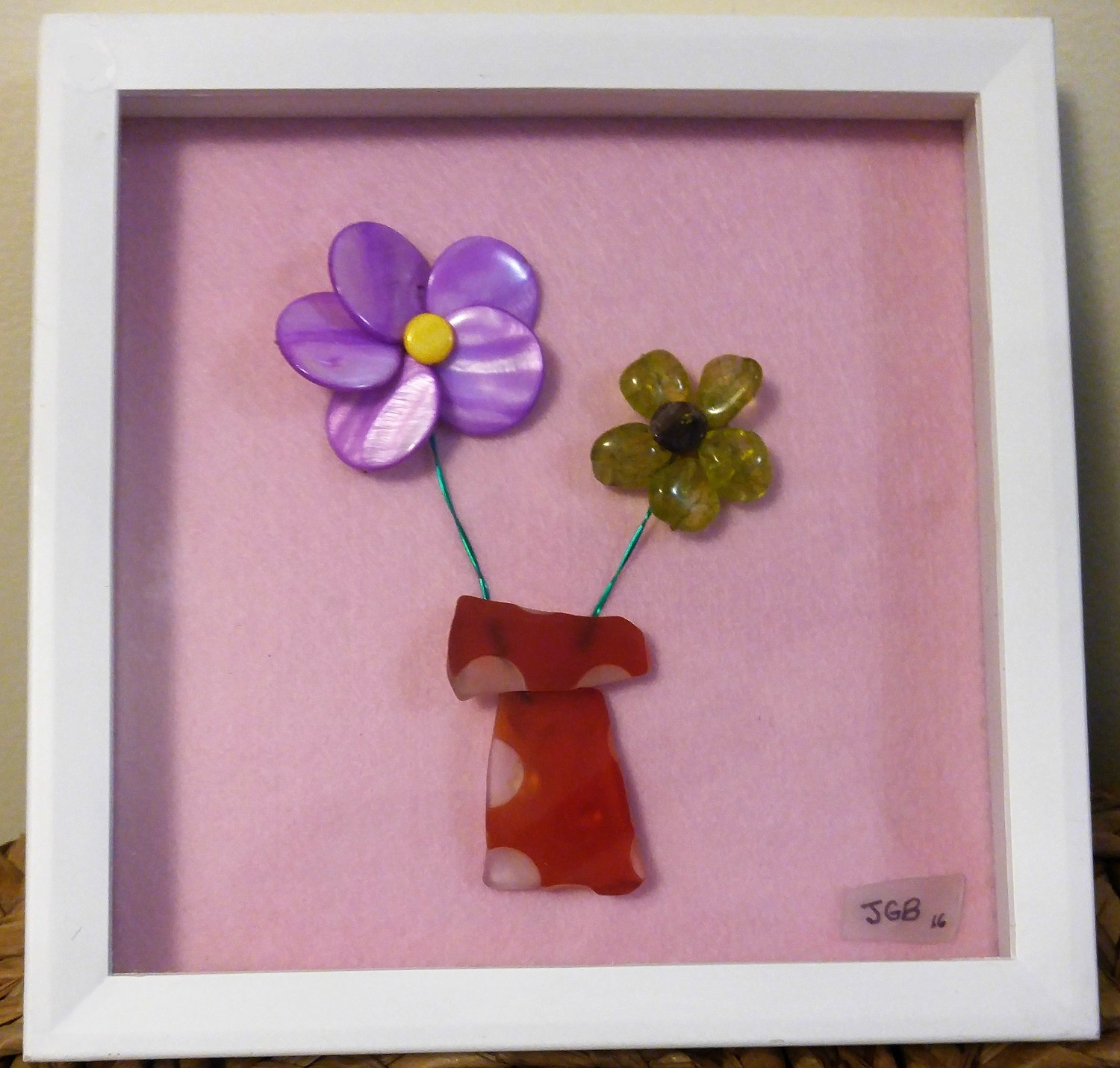Framed Bead Flowers